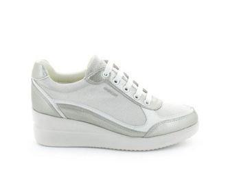 Geox - Zapatillas para hombre multicolor Grey/Silver LT GREY/SILVER