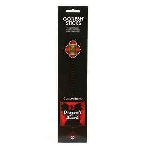 Gonesh Incense Sticks Extra Rich Collection - Dragon's Blood - 5 Packs (100 Total)