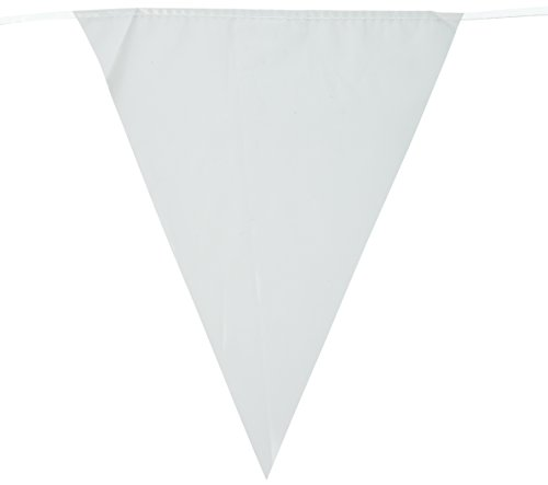 Indoor/Outdoor Pennant Banner (white) Party Accessory  (1 count) (1/Pkg)