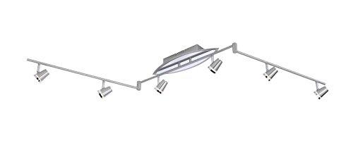 LED Deckenstrahler 6 Flammig Dimmbar Decken Spot Deckenlampe Design Spots Strahler Flur Lampe Stahl Deckenleuchte