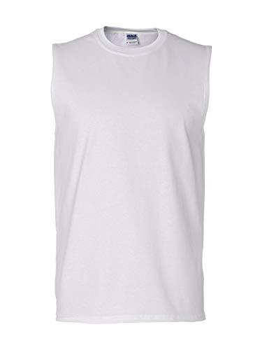 k Sleeveless T-Shirt - WHITE - Large ()
