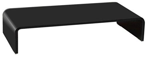 TV Schrank-Aufsatz Glas Fernsehtisch Glasplatte Glastisch schwarz lackiert HAGEN B153136-4