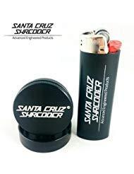 2 Piece Grinder - Small (Black Gloss) by Santa Cruz Shredder