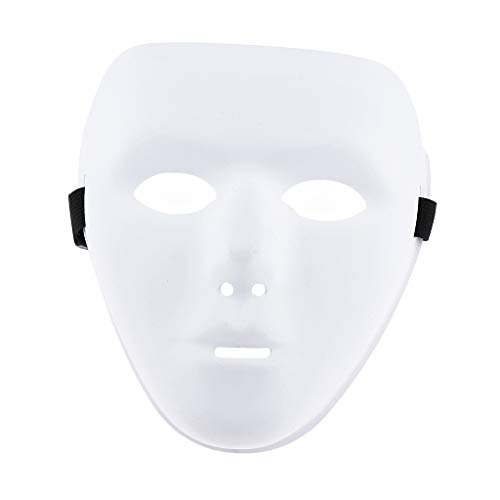 Fityle Halloween White/Gold Face Mask Jabbawockeez Costumes Horror Movie Roleplay Party - White, as -