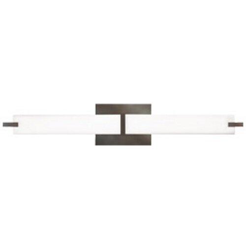 White Tech Lighting (Tech Lighting 700BCMETS-LED, Metro Bath, LED Vanity Fixture, Satin Nickel)