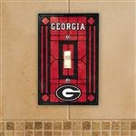 (NCAA Georgia Bulldogs Red Art-Glass Switch Plate)
