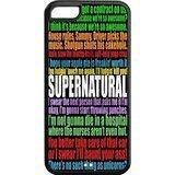 Case for iPhone 5c,Black/White Sides,Classic Style Customzie Unique Design iPhone 5cs Cases , High Qualiy TPU Material,Supernatural 5c Cover