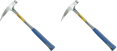 Estwing Rock Pick - 22 oz Geological Hammer with Pointed Tip & Shock Reduction Grip - E3-23LP (2-(Pack))