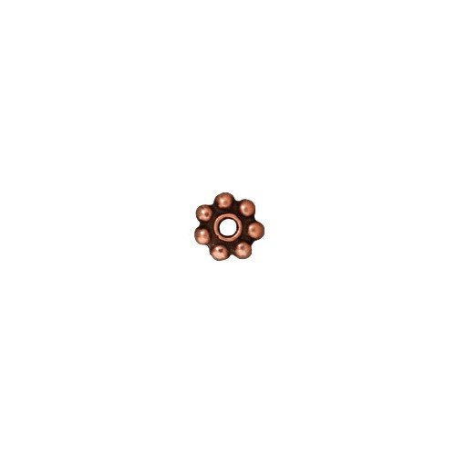 (TierraCast Daisy Heishi, 5mm, Antique Copper Plated Pewter)
