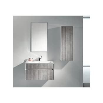 Eviva Evvn12 36ash Wall Mount Modern Bathroom Vanity Set High Gloss
