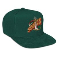 Mitchell & Ness NBA Seattle Supersonics Snapback One Tone Logo Hat (Green)