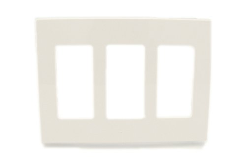 Touch Plate Lighting Control - Leviton 80311-SW 3-Gang Decora Plus Wallplate Screwless Snap-On Mount, White