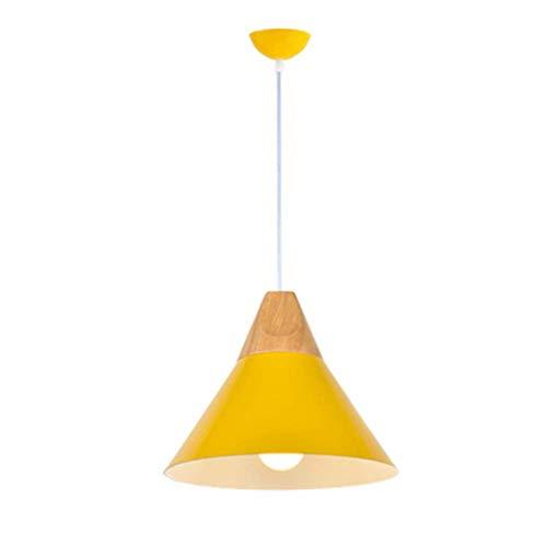 SPA   Mavoitureons Suspension pour la Cuisine, E27 Mavoitureons Lustre avec décoration en métal Couleuré Lampe Suspendue pour Restaurant Restaurant Café-Jaune 25x26cm