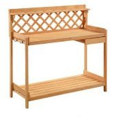 (CENTER Outdoor Garden Work Bench - Table Station,Potting Table Plans,Patio Storage Bench With Lower Shelf & Hooks.This Is The Perfect Potting Bench For You & EBOOK AWESOME HOME DECOR IDEAS.)