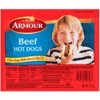 - ARMOUR FRANKS HOT DOGS BEEF 12 OZ PACK OF 3