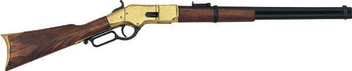 Denix 1866 Lever-Action Repeating Replica Gun (Brass) - Non-Firing Replica by Denix