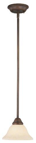 (Livex Lighting 6110-58 Coronado 1 Light Imperial Bronze Mini Pendant with Vintage Scavo Glass)