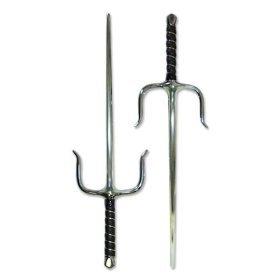 Ace Martial Arts Supply Pair of New Sais Octagon Martial Arts Ninja Sai Weapon, 19-Inch, Silver -