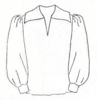 Renaissance Shirt Pattern (18th - 19th Century Renaissance - Pirate - Poet Shirt Pattern)