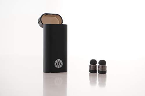 [해외]데시벨 사운드 분자 DSM 무선 이어버드 블루투스 헤드폰 내장 파워 뱅크 430mAh 핸즈 프리 토크 알루미늄 합금 / Decibel Sound Molecules?DSM?Wireless Earbuds Bluetooth Headphones with Built in Power Bank 430mAh Hands Free Talk Aluminum Al...