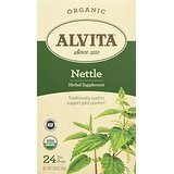 Alvita Organic Herbal Tea Bags, Nettle Leaf, 24 Count (Pack 2)