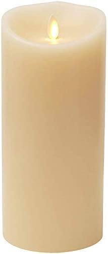 Flameless Candle with Timer and Remote,3.5-Inch by 9-Inch Vanilla Scented LED Pillar Candle with Moving Wick, Ivory