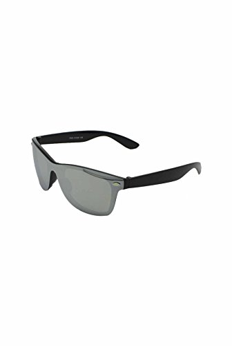 Mirrored Finecy unique taille Black soleil Silver Lunettes In with Homme frame de Lens UgAqf6xU