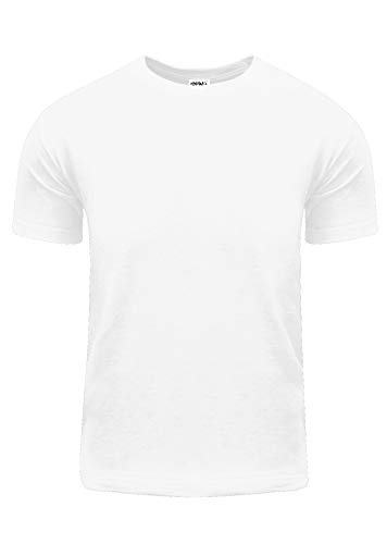 - ACS01_5X Active Short Sleeve T Shirt S~5XL by Fitscloth White 5X