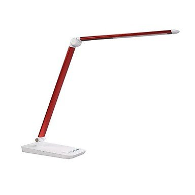 ZQ Modern fashion DC12V 9W Daylight Touch Sensor Dimmable Led Table Lamp Aluminum Modern Design , Red