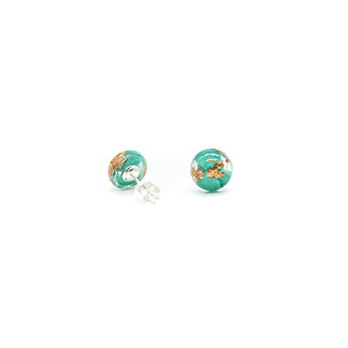 Resin Turquoise Earrings (Handmade