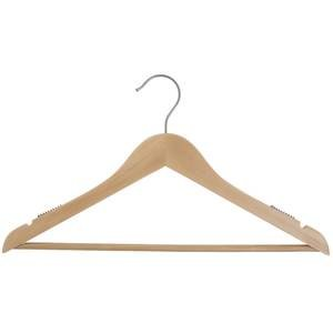 17'' Natural Wooden Hanger, Suit, 100 per set by Retail Resource