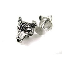 Genuine Sterling Silver Wolf Cufflinks