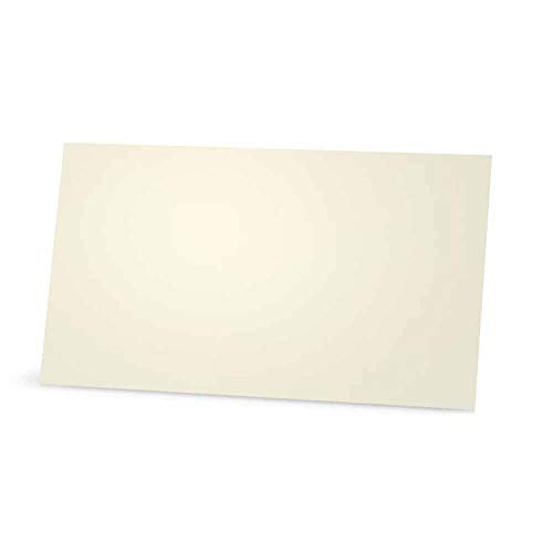 Ivory Place Cards - Flat or Tent Style - 10 or 50 Pack - Solid Color Placement Table Name Dinner Seat - Stationery Party Supplies - Any Occasion Event or Holiday (50, Flat Style)
