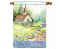 Easter Blessings Two-Sided House Flag