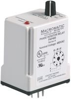3 Phase Monitor Relay, SPDT, 240VAC, 8 Pin