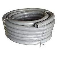 well2wellness® PVC Flexschlauch 50mm / PVC Klebeschlauch 50mm für Pool + Teich, 25m Rolle