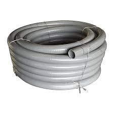 well2wellness® PVC Flexschlauch 50mm / PVC Klebeschlauch 50mm für Pool + Teich, 12m Rolle