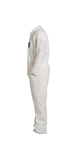 DuPont ProShield 10 PB120S Protective Coverall with Serged Seams, Disposable, Open Cuff and Ankles, X-Large, White (Pack of 25) by DuPont (Image #3)