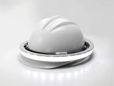Halo 360-Degree LED Personal Safety for Hard Hat Package White/RED by ILLUMAGEAR (Image #2)
