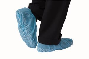 Medical Booties Shoe Covers Non Slip Package of 50 Pair – 100 Covers – Blue, Health Care Stuffs