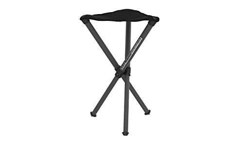 Walkstool – Basismodel – Zwarte kleur – 3 poten vouwkruk in aluminium – Hoogte 50 tot 60 cm – Maximale belasting 150 tot…