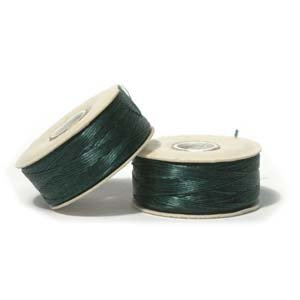 NYMO Nylon Beading Thread Size D for Delica Beads Ever Green 64 Yards (58 Meters)