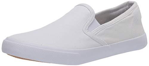 Amazon Essentials Women's Frances Sneaker, White, 9 Medium US