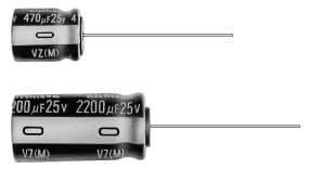 - Set of 10, Nichicon 105°C Electrolytic Capacitor 22uF 100V (22 mfd 100V) 20% Radial, 3/16