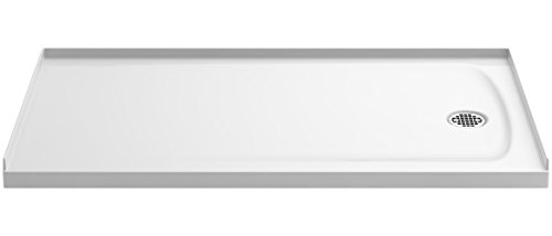 """Transolid PAN3260R-A2 60"""" x 32"""" Decor Solid Surface Right-Hand Shower Base, Seaside on sale"""