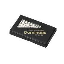 Double Six Professional Dominoes   White With Black Dots  Case Color May Very