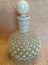 Vintage Fenton Hobnail White Opalescent Perfume Bottle Decanter & Stopper