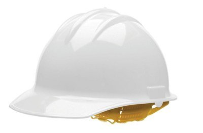 Bullard White Class E or G Type I Classic C30 3000 Series HDPE Cap Style Hard Hat With 6-Point Self-Sizing Pinlock Suspension, Accessory Slots, Chin Strap Attachment And Absorbent Cotton Brow Pad