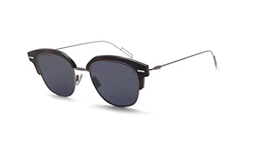 Christian Dior Homme DiorTensity Sunglasses Havana Grey w/Blue Mirror Gradient Gold Lens 48mm AB8A9 Dior Tensity Dior Tensity/S DiorTensity/S