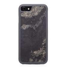 Woodcessories - Real Stone Case Compatible with iPhone 7/8, EcoBump Stone (CamoGrey) by Woodcessories